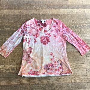 Coldwater Creek soft floral shirt